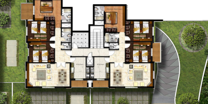 Architectural Floor Plan Renderings