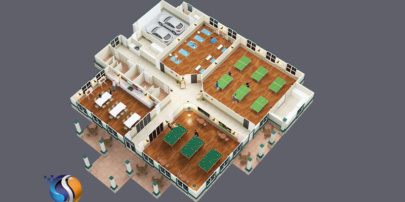 3D floor plan view 4